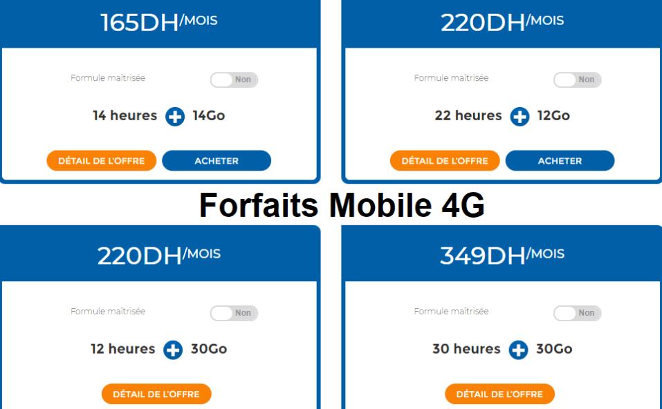 Forfaits Mobile 4G